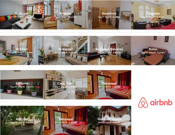 AirBnB accommodation - Can we afford to travel the world by Ruth McAllister Kemp