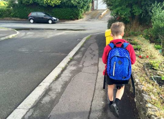 Robert on the school run - Can we afford to travel the world by Ruth McAllister Kemp