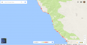 California scheming - Google Maps + the Highway 1 detour by Ruth McAllister Kemp